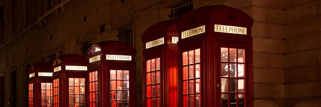 budki telefoniczne w anglii